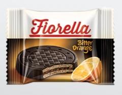 Вафли Фиорелла Fiorella в темном шоколаде с апельсином 20гр
