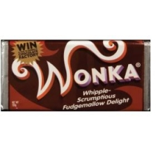 Шоколад Wonka молочный с кунжутом с золотым билетом 200g