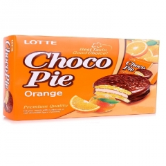 Апельсиновые пирожные Choco Pie Lotte (168 грамм)