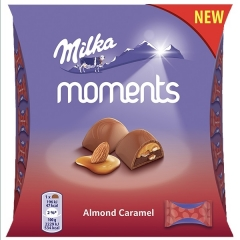 Конфеты Milka Moments Almond Caramel 96гр