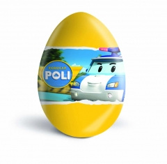 "Шоколадное яйцо с сюрпризом ""Робокар Поли"" 20гр"