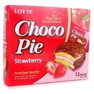 Клубничные пирожные Choco Pie Lotte (336 грамм)