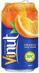 VINUT Напиток сокосодержащий со вкусом Апельсина 0,33л