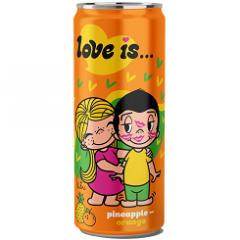 Газированный напиток LOVE IS Ананас и Апельсин 330мл