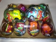 """Яйца с карамелью и игрушкой """"CARTOON CAR"""" (гоночные машины) 6гр"""