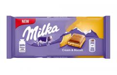 Milka Cream & Biscuit c прослойкой нежного крема и печеньем 100гр