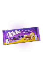 "Milka Creme with crispy biscuit ""ваниль и кусочки печенья"" 100 гр"