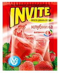Растворимый напиток Invite Клубника 9г