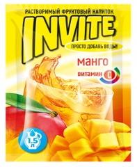 Растворимый напиток Invite Манго 9г