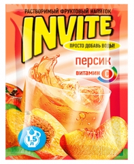 Растворимый напиток Invite Персик 9г
