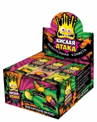 Жевательная конфета Кислая Атака Ассорти 11гр