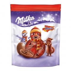Новогодние конфеты Шоколадные шарики Bonbons Daim Milka 86 гр