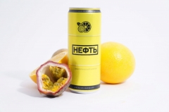 """Энергетический напиток NEFT """"Апельсин-Маракуйя"""" 0,450л"""
