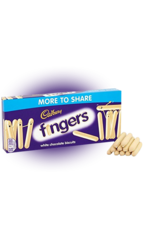 Cadbury Пальчики Biscuits Whitе Fingers 138гр