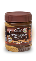 Арахисовая паста Азбука Продуктов шоколадная 340 гр