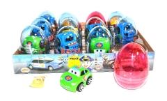 "Яйца с карамелью и игрушкой "" RACERS"" (машинки) 6гр"