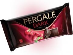 Темный шоколад Pergale с кусочками клюквы 93 гр