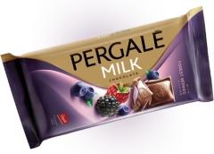 Молочный шоколад Pergale с начинкой из лесных ягод 100 гр