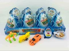 Яйцо ШОКОПРИЗ MAXI для мальчиков с игрушкой, шоколадно-молочной пастой и печньем 30 гр