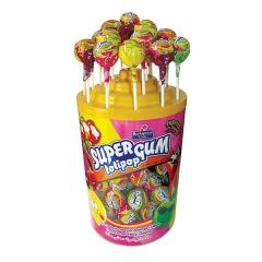 Леденец на палочке с жвачкой Super Gum Tutti-Frutti 16гр