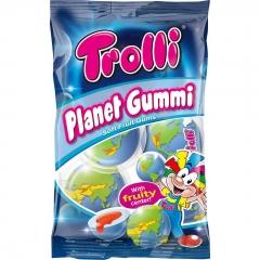 "Мармелад TROLLI ""Планета мармелада (Глобус) с супер кислой клубничной начинкой"" 75гр"